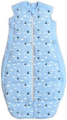 ERGOPOUCH Organic Cotton - Spací pytel Rocket Blue 12-36m