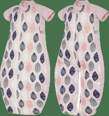 ERGOPOUCH Sleep suit Bag - Spací vak Pink Leaf 2-12m