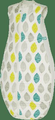 ERGOPOUCH Organic Cotton&Bamboo - Spací pytel Aqua Leaf 12-36m