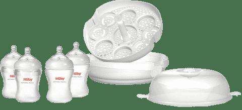 NUBY Sterilizátor do MT + 4 láhve