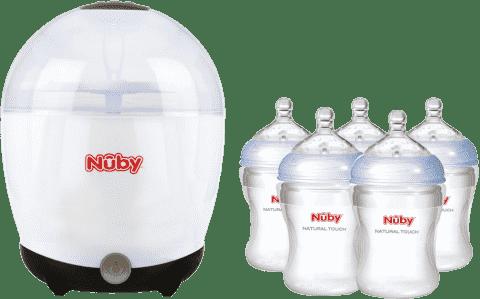NUBY Elektryczny sterylizator + 5 butelek