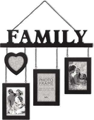 FOTORÁM černý Madeira Family pro 4 fotografie