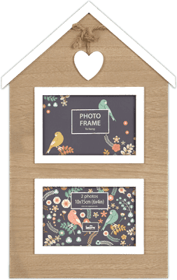 FOTORÁMEČEK domeček Sweetheart pro 2 fotografie 10x15 cm