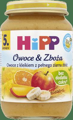 HIPP Owoce z kleikiem z pełnego ziarna zbóż BIO (190g)
