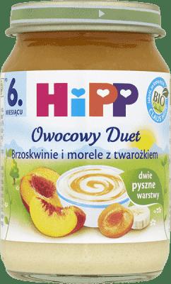 HIPP Brzoskwinie i morele z twarożkiem BIO (160g)
