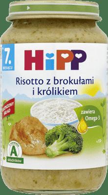 HIPP Risotto z brokułami i królikiem (220g)