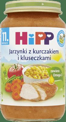 HIPP Jarzynki z kurczakiem i kluseczkami BIO (220g)