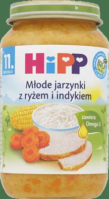 HIPP Młode jarzynki z ryżem i indykiem BIO (220g)