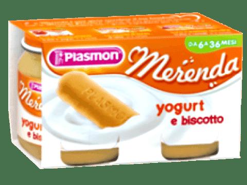 PLASMON Jogurt a sušienky 2x120g