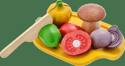 PLAN TOYS – Warzywa z deską do krojenia
