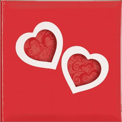 FOTOALBUM czerwony LOVE HEARTS na 200 fotografii 10 x 15 cm