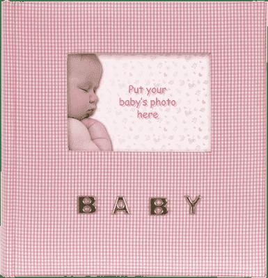 FOTOALBUM różowy BABY Gingham na 100 ks fotografii 10 x 15 cm
