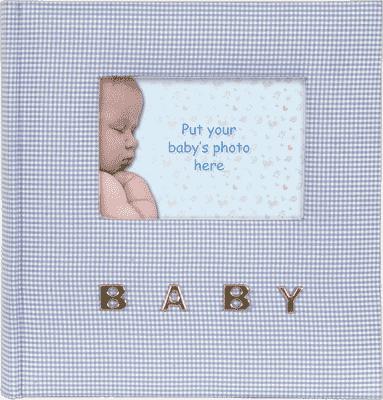 FOTOALBUM modré Baby Gingham pro 100 fotografií 10x15 cm