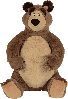 SIMBA Máša a medveď Medveď plyšový 50 cm sediaci