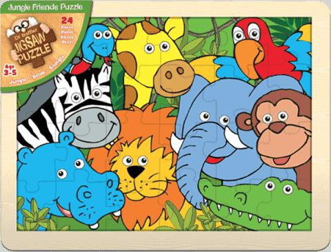 FIESTA CRAFTS Veľké puzzle - Džungľa