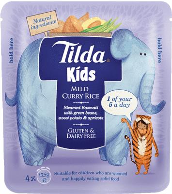 4x TILDA Detská ryža - Sladké Curry -125g