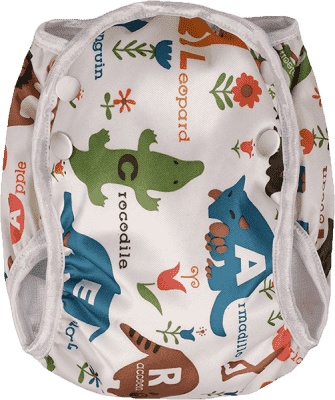 T-TOMI Plenkové plavky, bílá safari, velikost M