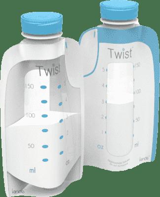 KIINDE Twist - Vačky na materské mlieko 40ks 6PR