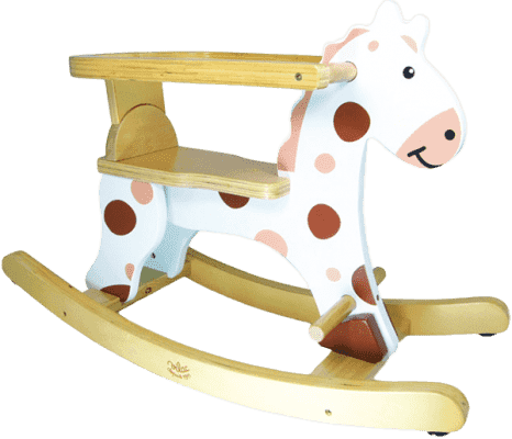 VILAC Drevené hračky - Drevený hojdací kôň biely