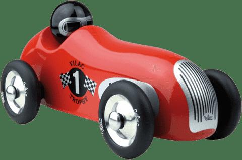 VILAC Designerskie drewniane historyczne auto wyścigowe