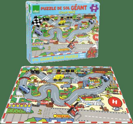 VILAC Drevená hračka - Drevené puzzle doprava