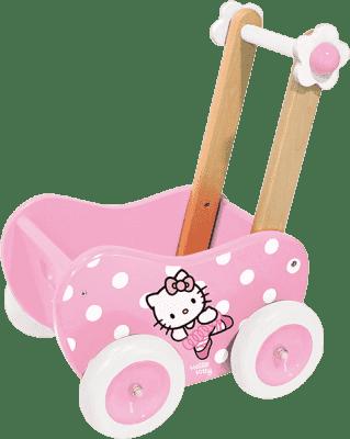 VILAC Drewniany wózek dla lalek Hello Kitty