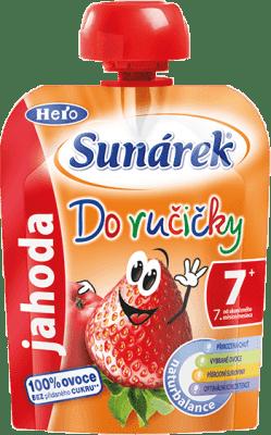 SUNÁREK Do ručičky jahoda 90g - ovocný příkrm