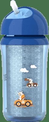 AVENT Kubek termiczny ze słomką 260ml niebieski