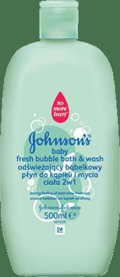 JOHNSON'S BABY Bublinková kúpeľ 2 v 1 a umývací gél Fresh(500 ml)
