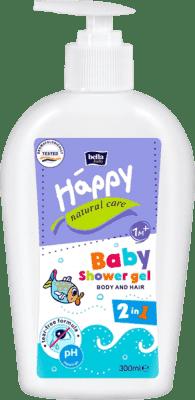 BELLA HAPPY BABY Natural Care mycí gel na tělo a vlasy 300ml