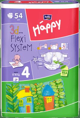 BELLA HAPPY Pieluszki jednorazowe Maxi (8-18 kg), 54 szt
