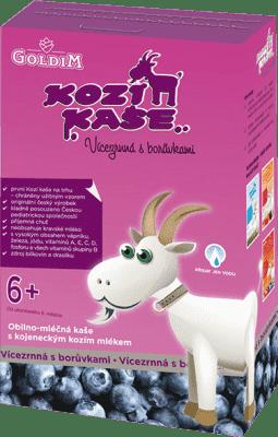KOZIA KAŠA Viaczrnná s čučoriedkami (6m+), 225 g