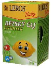 LEROS BABY detský čaj Citrónik 20x2g