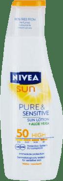 NIVEA Sun mlieko na opaľovanie sensitive OF 50, 200ml