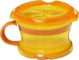 MUNCHKIN Click Lock Pomarańczowo - Żółty pojemnik na przekąski
