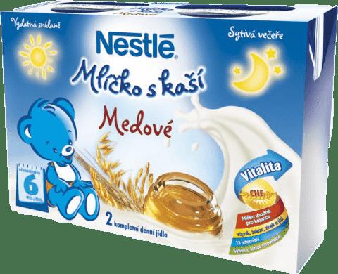 NESTLÉ medové mlíčko s kaší (2x200 ml)