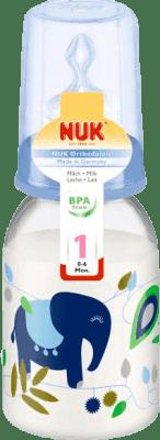 NUK modrá Fľaška PP 110ml, silikon, veľkosť 1, M