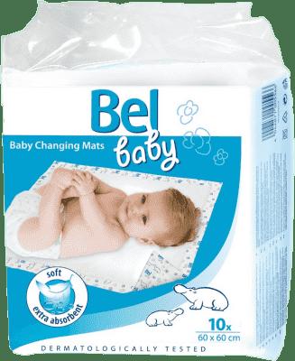 BEL BABY podložky na prebaľovanie dojčiat, 60cm x 60cm (10ks)