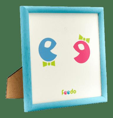 FEEDO Ręcznie wykonana ramka Feedo- niebieska