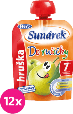 12x SUNÁREK Do ručičky hruška 90g - ovocný príkrm