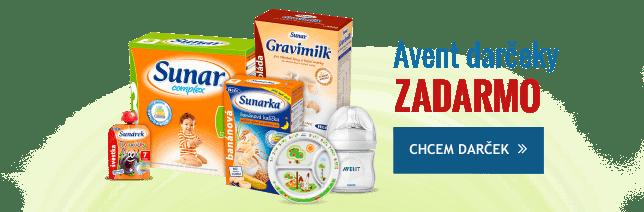 Vyberte si darčeky od Avent k nakupu SUNAR, Sunarka, SUNÁREK a Gravimilku.