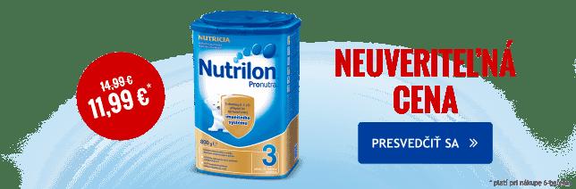 Nutrilon za neuveriteľnú cenu 11,99 Euro za kus. Platí pri nákupe 6-balenia.