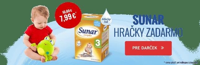 Pri nákupe Sunar, Sunárek, Sunarka nad 81 € získate plyšovú hračku zadarmo.