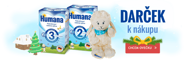 Pri nákupe 6-balenia mlieka Humana získate plyšovú ovečku.