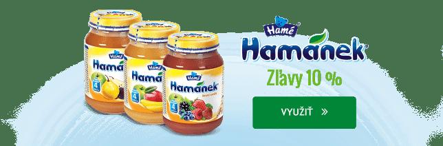 10 % zľavy na vybrané produkty Hamánek.